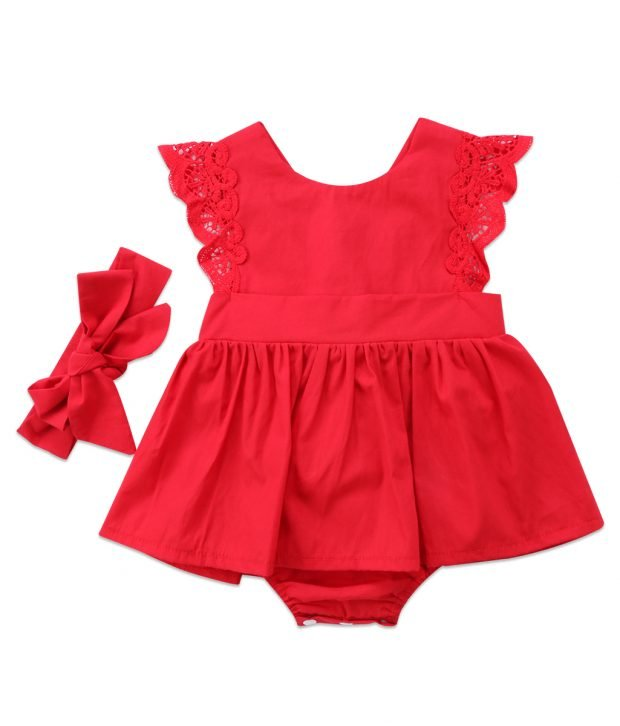 Red Christmas Ruffle Romper 4