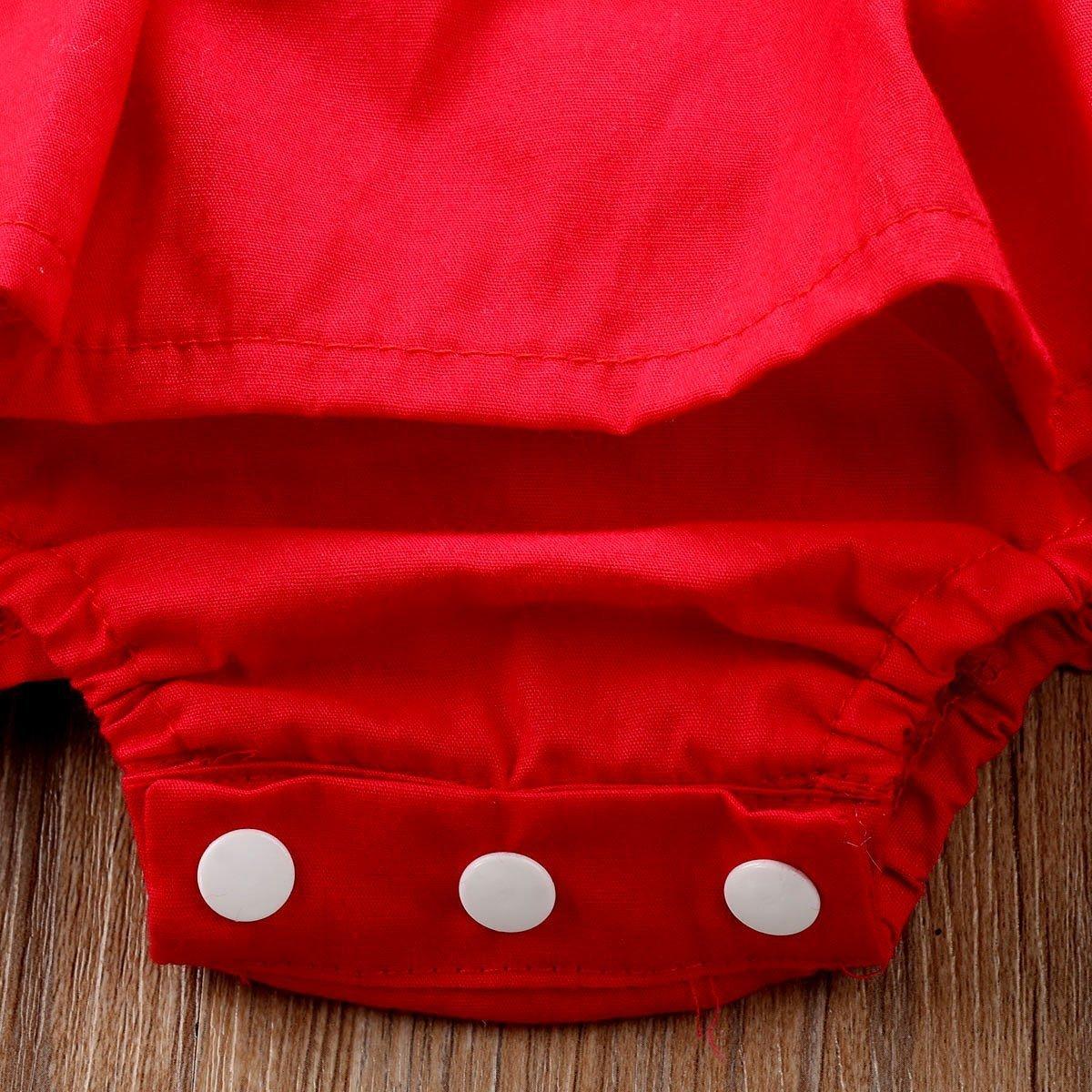 Red Christmas Ruffle Romper1