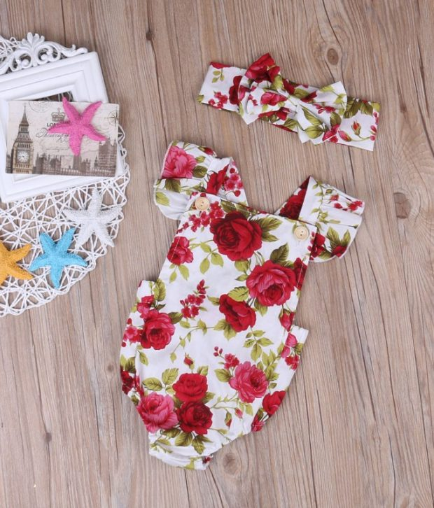 Red Rose Christmas Romper3