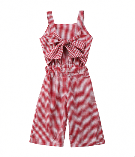 red check playsuit