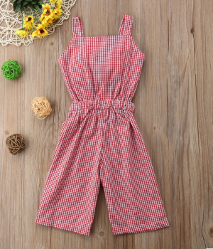 red check playsuit back