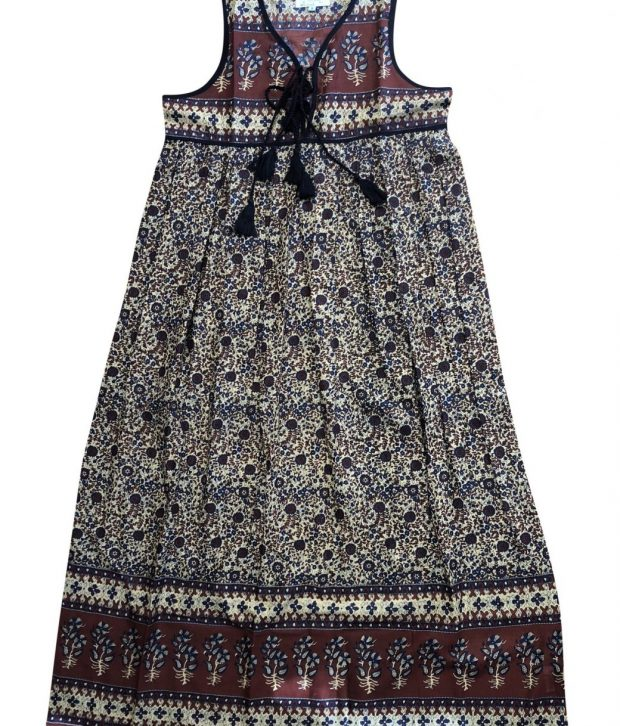 gypsy dress brown ladies