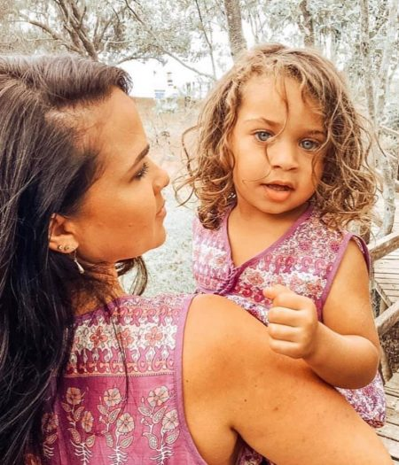 gypsy dress purple girl and mum