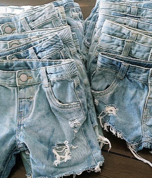 Distressed Denim Shorts - Girls & Boys