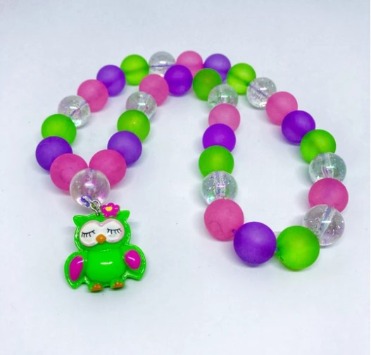 Sweet As Sugar - Beaded Necklace With Priscilla the Owl Charm