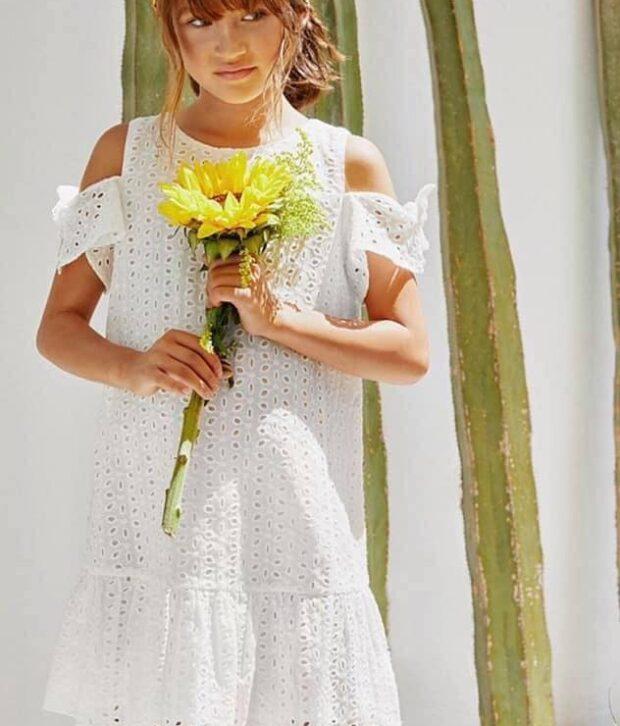 Lily White Dress - Tween Range