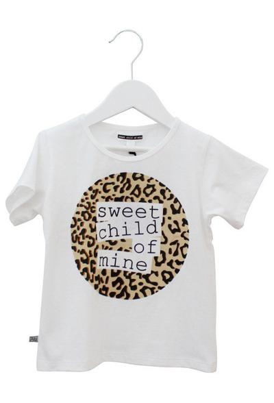 Sweet Child of Mine Circle Logo Tee Leopard