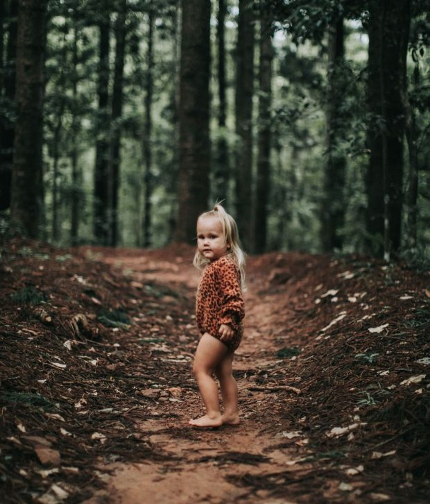 TULLY & THE CHIEF FABLE ROMPER IN RUSTY LEOPARD