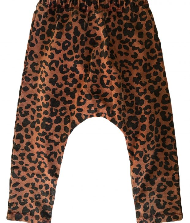 TULLY & THE CHIEF ELM BABY LEGGINGS IN RUSTY LEOPARD