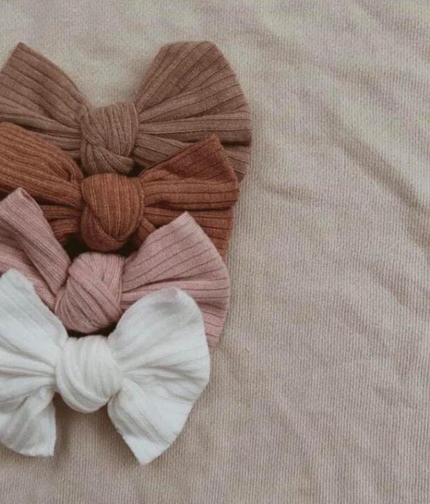 Mae & Rae Ribbed Bow Headbands - Assorted