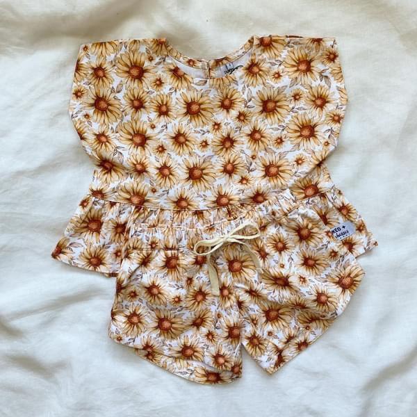 Dukes & Duchesses Sunflower Curved Shorts