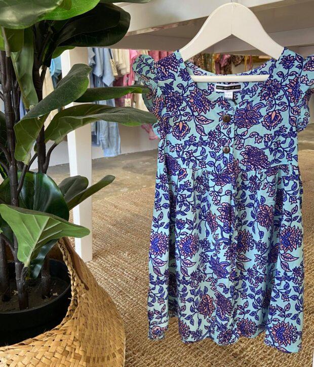 Sweet Child of Mine Babydoll Dress Jardin Blue