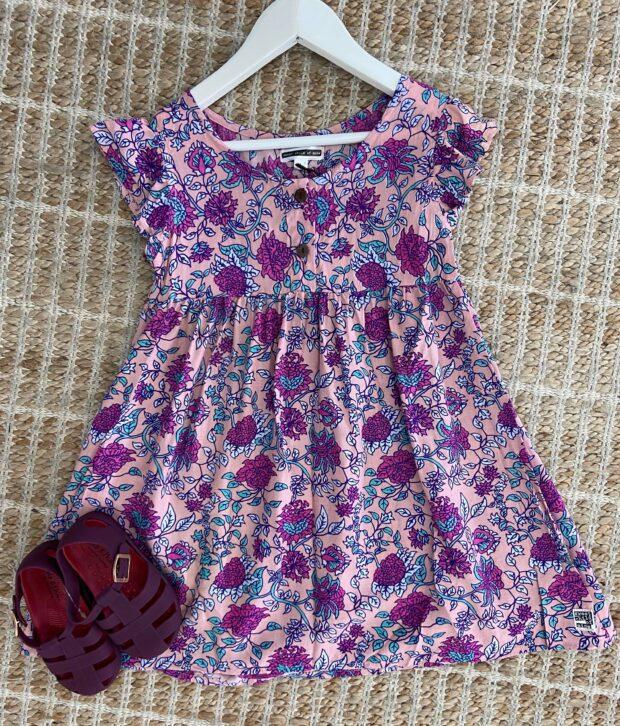 Sweet Child of Mine Baby Doll Dress Jardin Pink