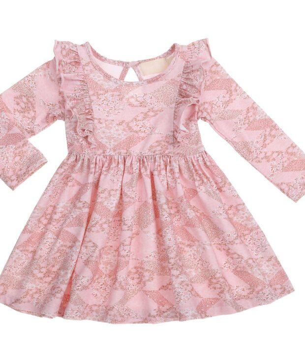 Bonnie & Harlo Patchouli Ruffle Dress