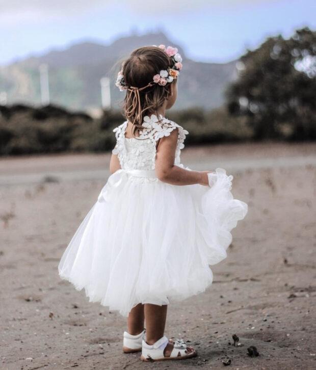 Little Lacey Layla Tutu Dress | White