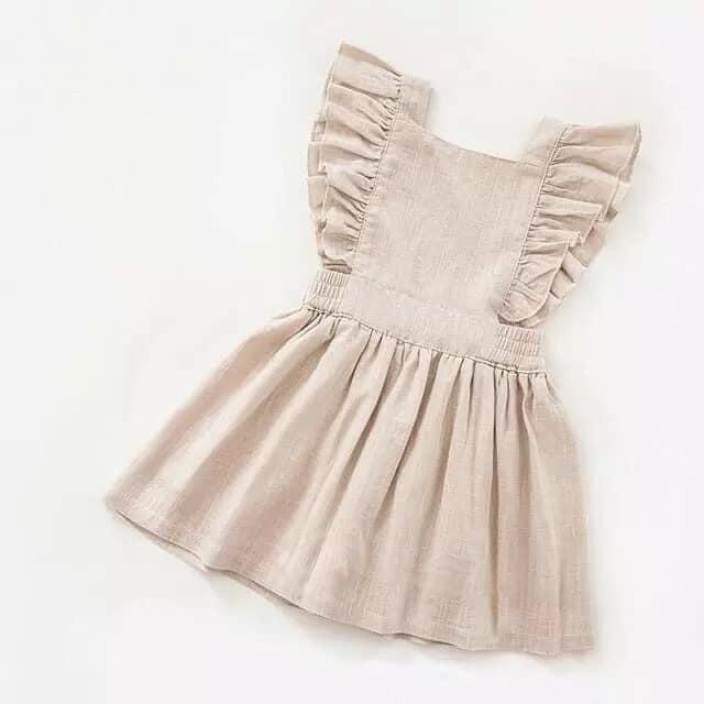 Layla Cream Pinny Dress