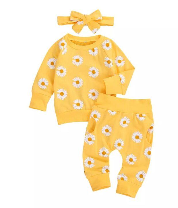 Daisy Trackie - Sage & Yellow