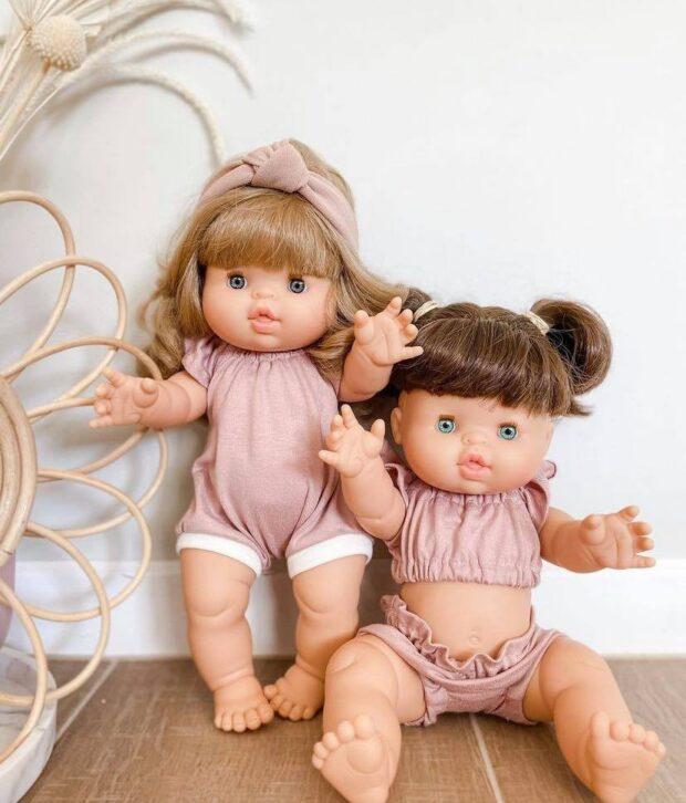 Dusty Pink Romper - Dolls