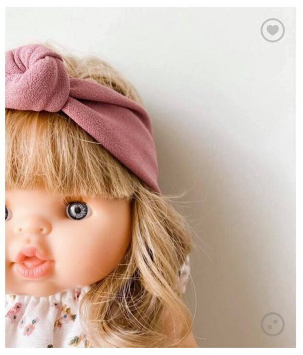 Doll Headbands - Rose and White
