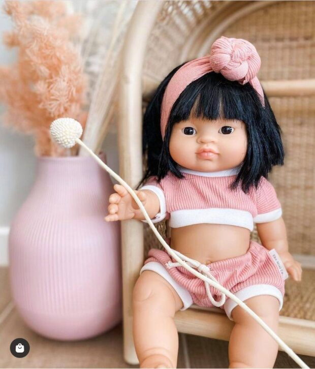 Dusty Pink Rib Set - Dolls