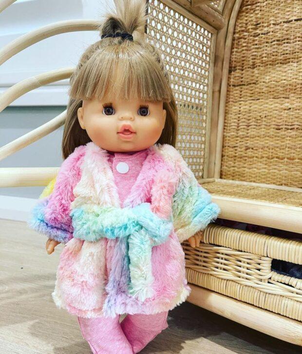 Rainbow Dressing Gown & Pink Onesie Set - Dolls