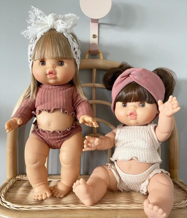 Rust and Cream 3 pc Sets - Dolls