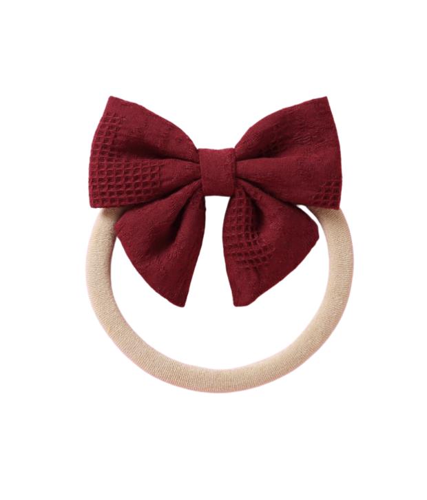 Bonnie & Harlo Textured Bow Headband Christmas